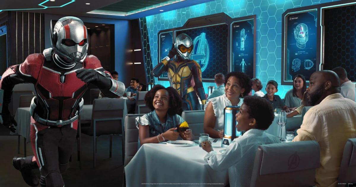 Disney Wish Dining Marvel
