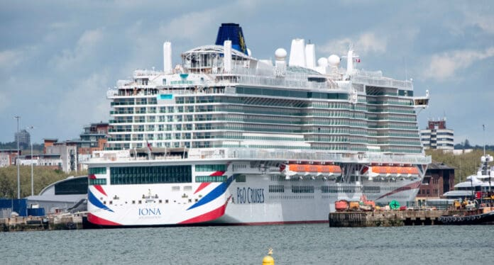 P&O Iona Cruise Ship in the UK