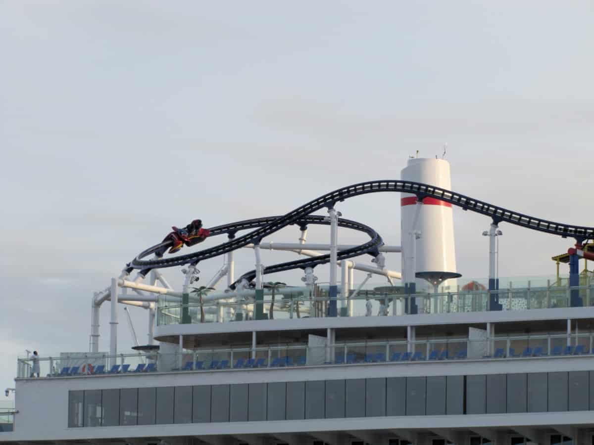 Mardi Gras BOLT Roller Coaster