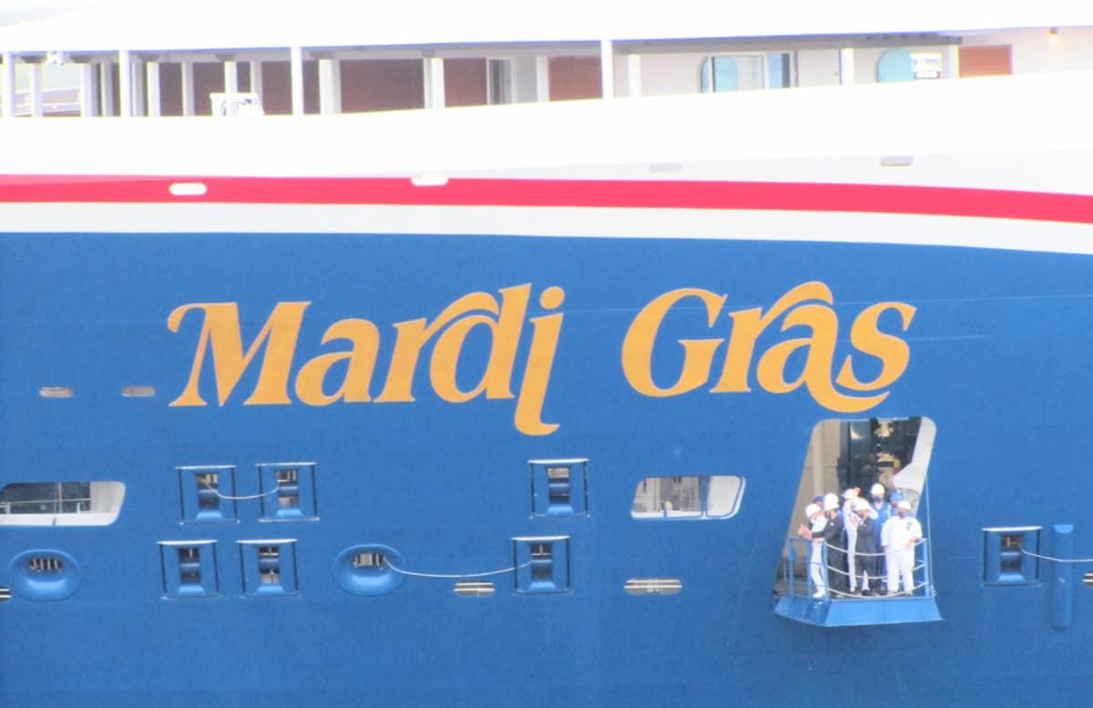 Mardi Gras Cruise Ship Bow