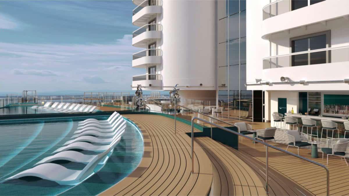 MSC Seashore Infinity Pool
