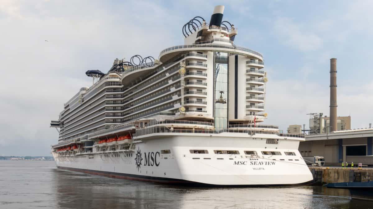MSC Seaview in Kiel, Germany