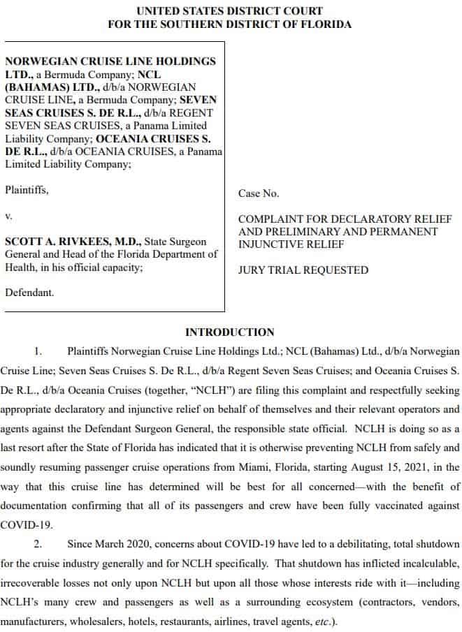 NCLH Lawsuit