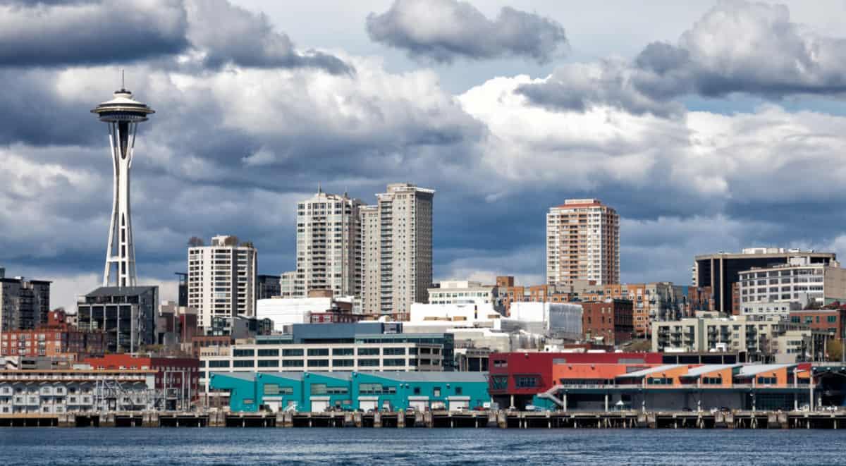 Seattle Skyline Near Port