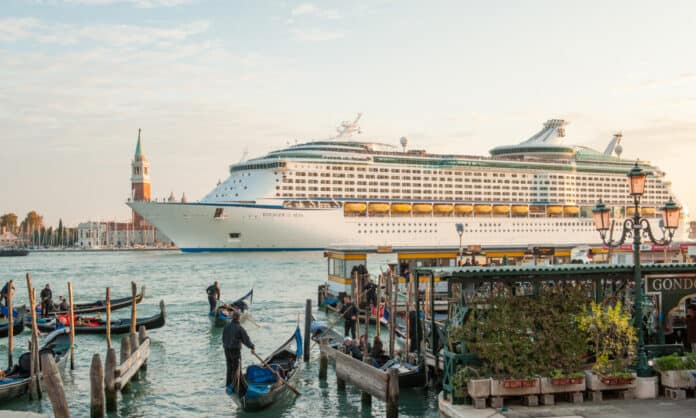 Large Cruise Ship in Venice