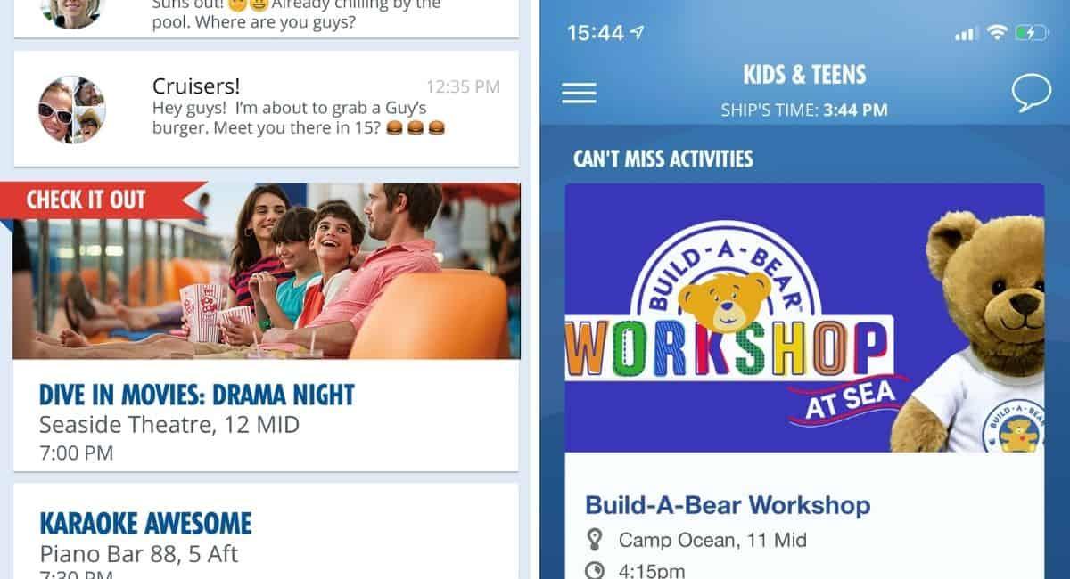 Activities on Carnival Hub App