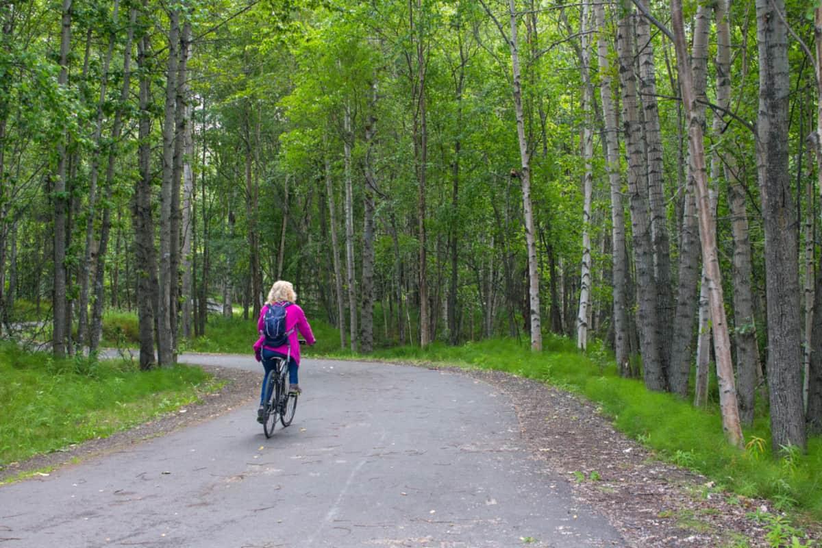 Tony Knowles Coastal Trail in Anchorage Alaska