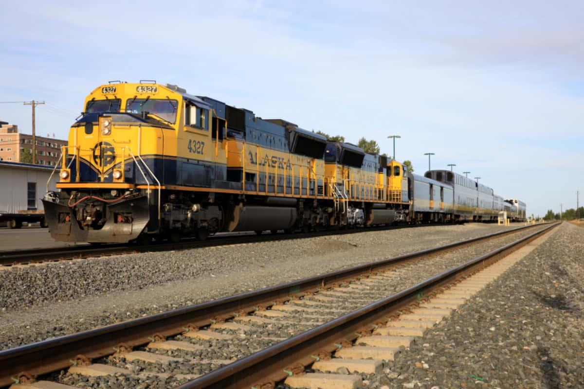 The Alaska railroad in Anchorage