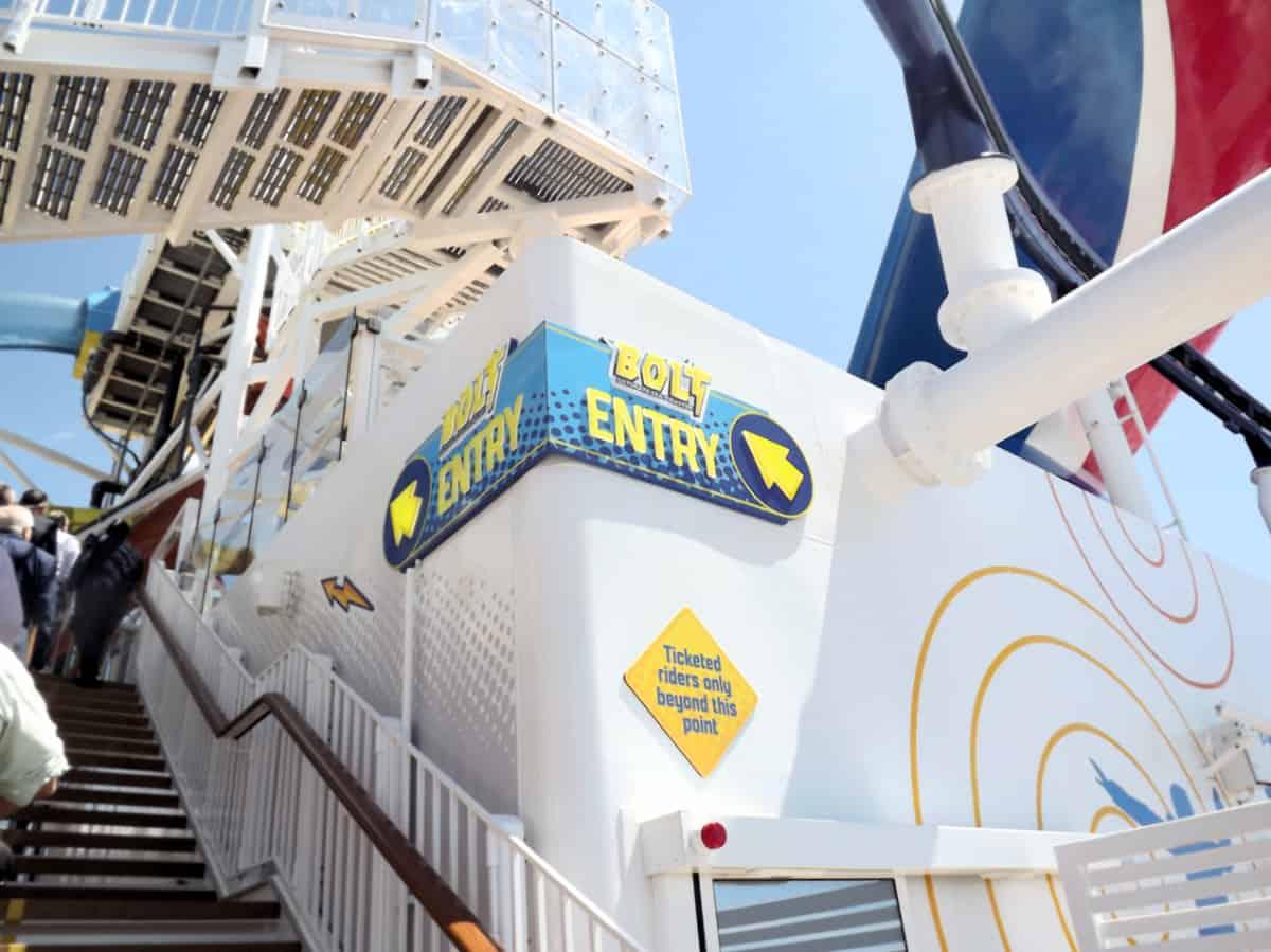 BOLT Roller Coaster Entrance