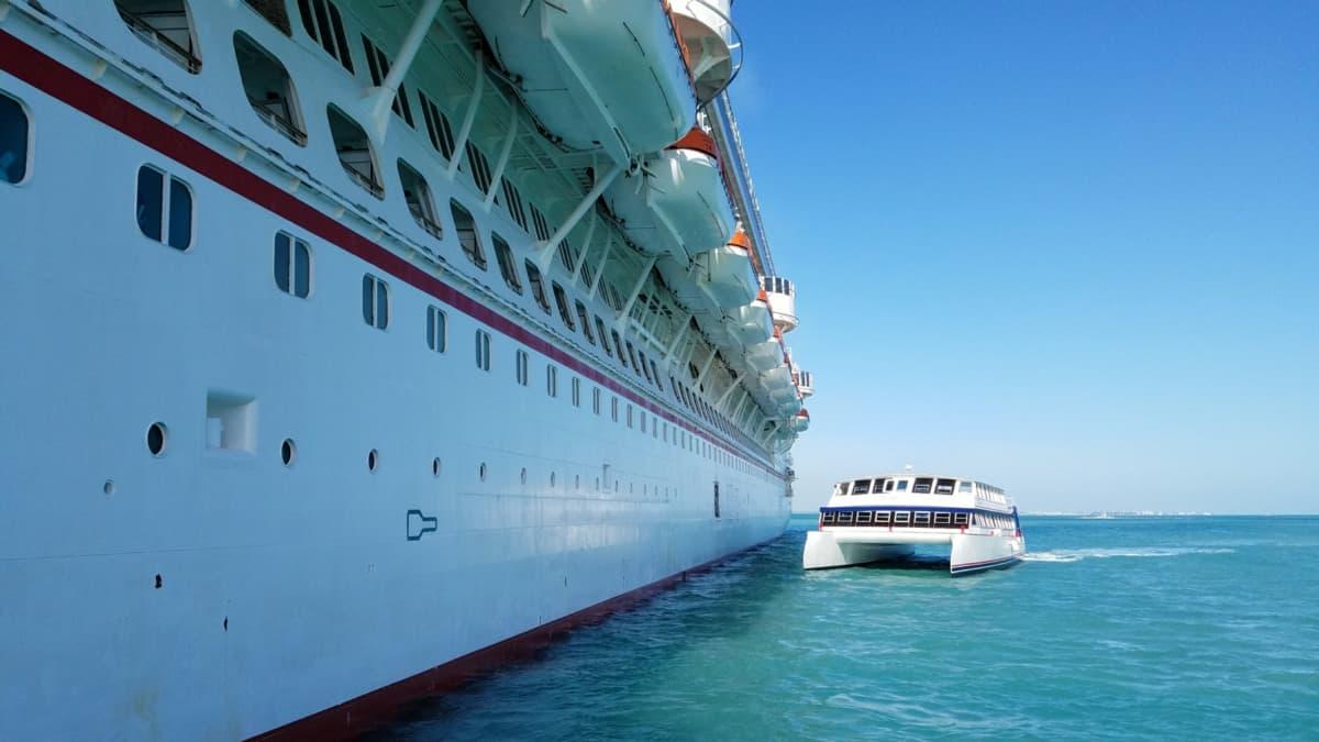 Carnival Cruise Ship Tendering in Belize