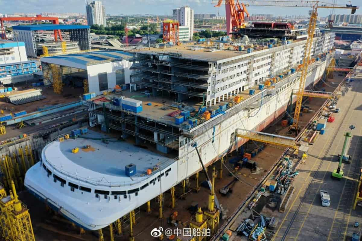 Carnival Chinese Cruise Ship Under Construction
