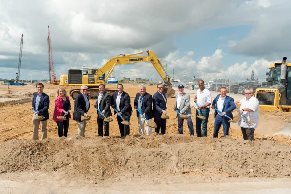 Groundbreaking Ceremony of Royal Caribbean Terminal in Galveston