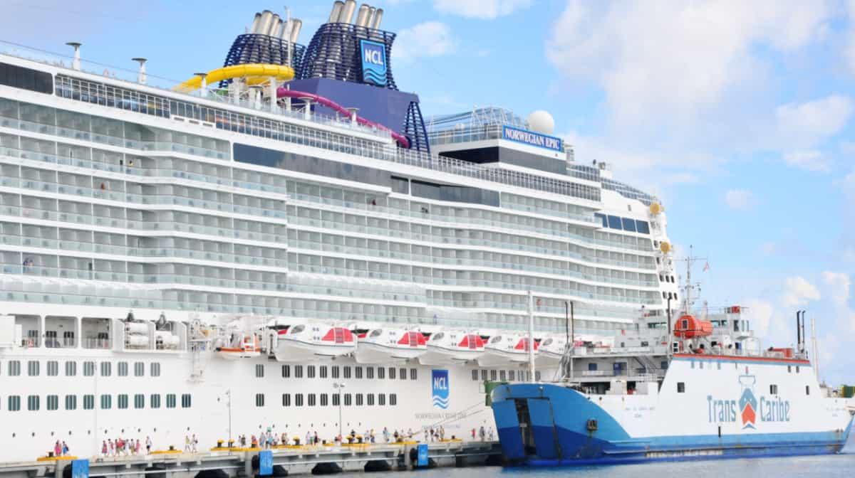 Norwegian Cruise Line Ship in Cozumel