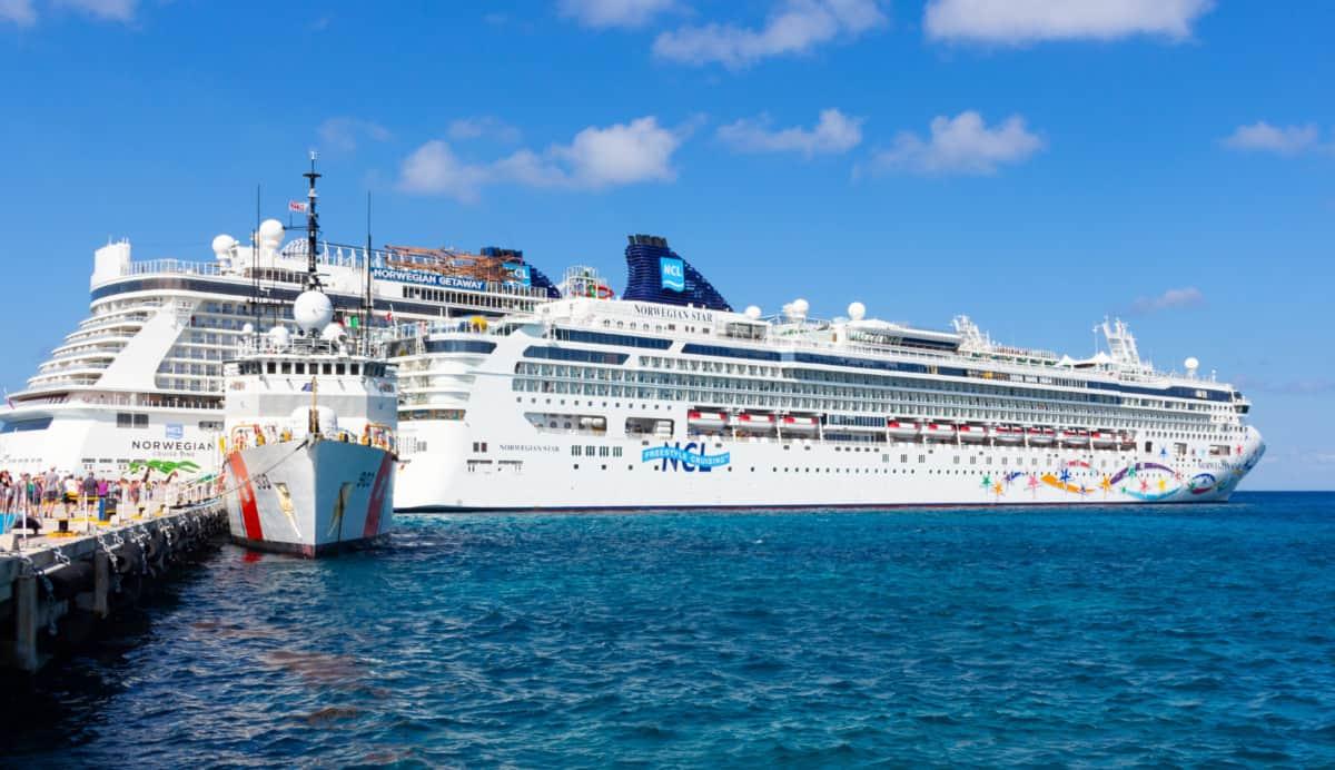 Norwegian Cruise Line Ships Docked in Cozumel