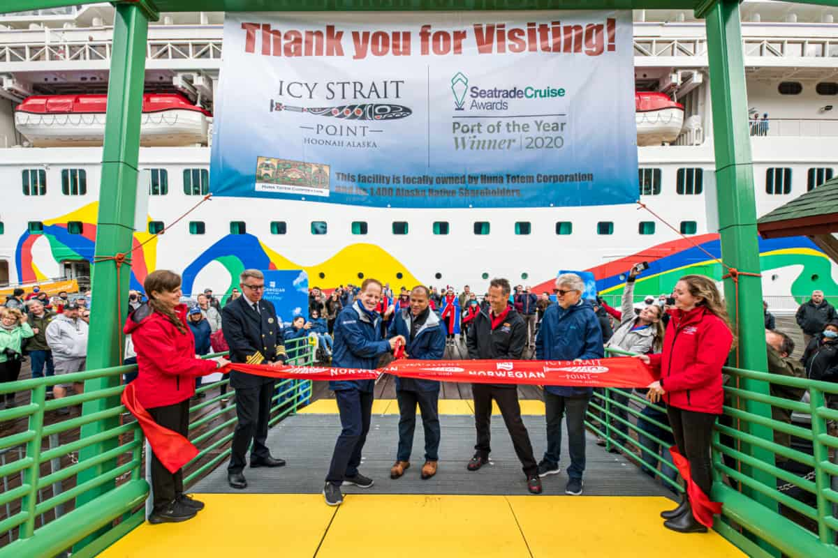 Ribbon Cutting Ceremony at Icy Straight Point