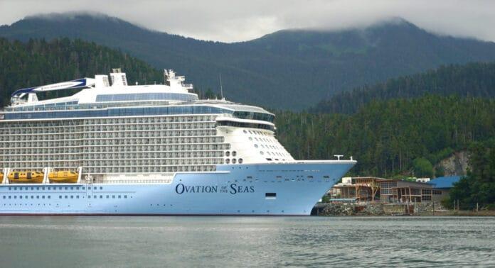 Ovation of the Seas in Sitka, Alaska