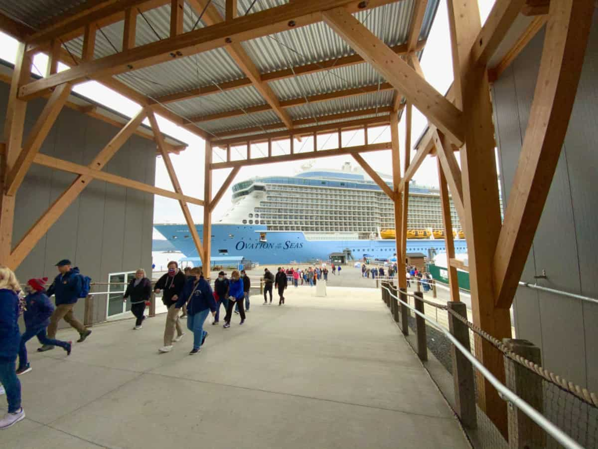Ovation of the Seas Docked in Sitka, Alaska
