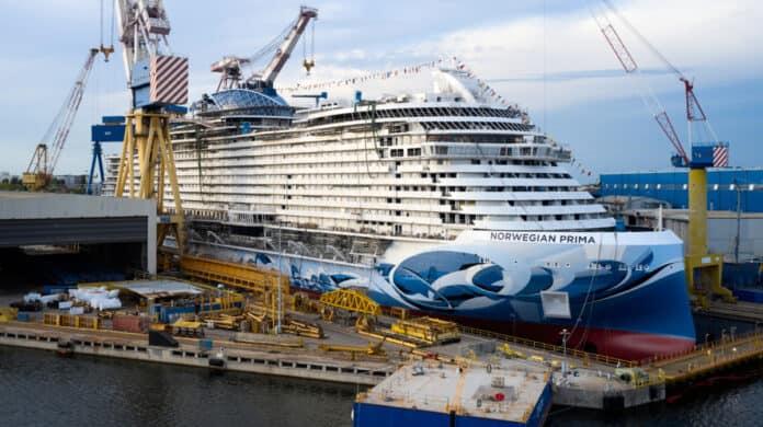 Norwegian Prima Cruise Ship at Shipyard