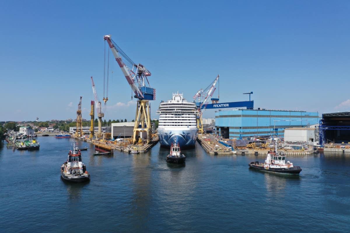 Norwegian Prima at the Shipyard