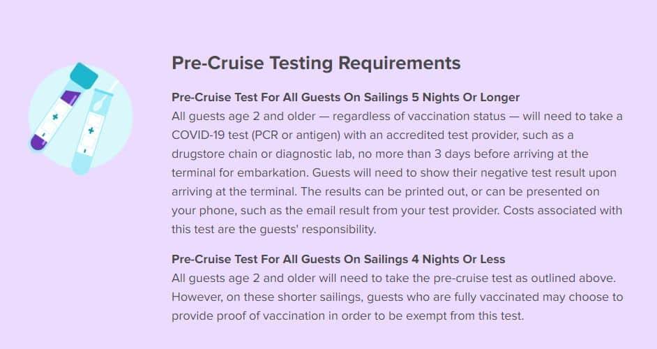 Royal Caribbean Pre-Cruise Testing