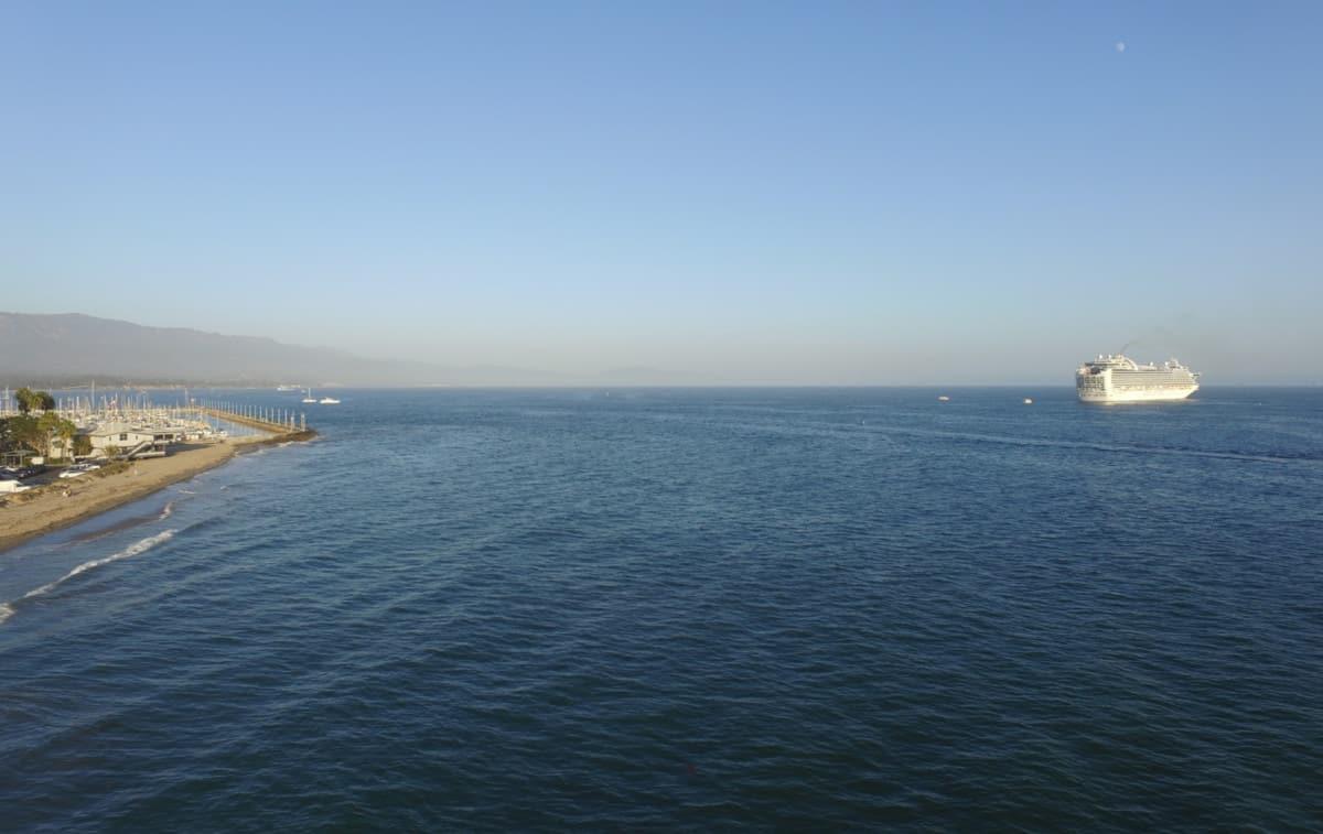 Princess Cruise Ship at Santa Barbara, California