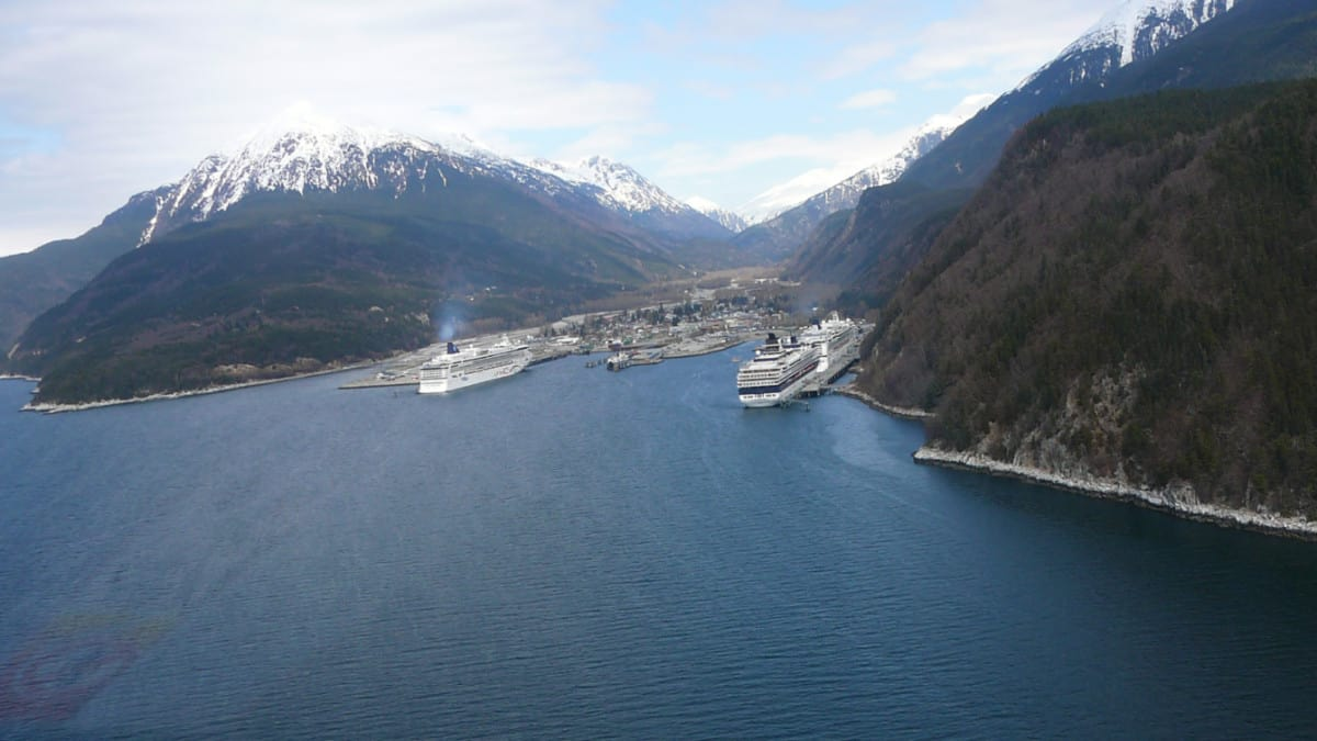 Aerial View of the Port of Skagway