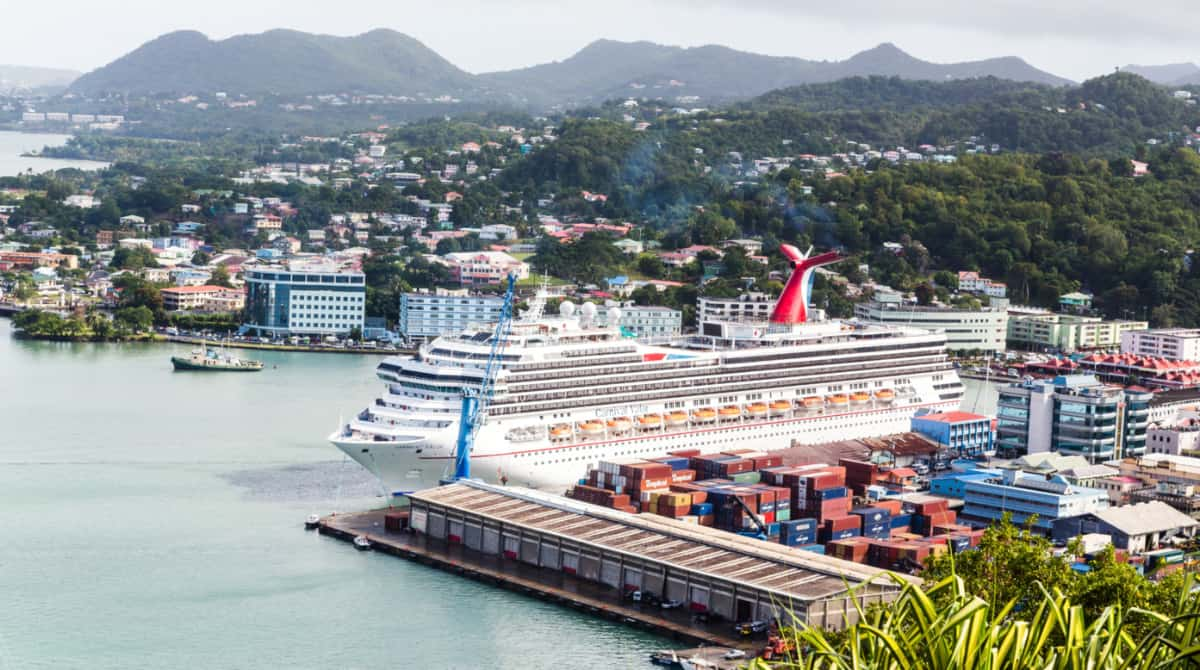 Carnival Cruise Ship in St. Lucia