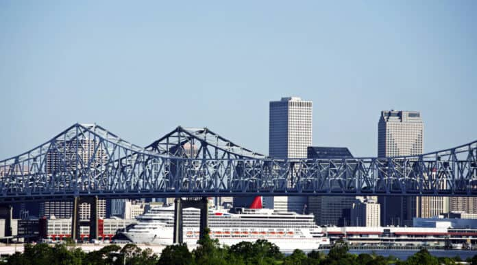 Carnival Cruise Ship in New Orleans