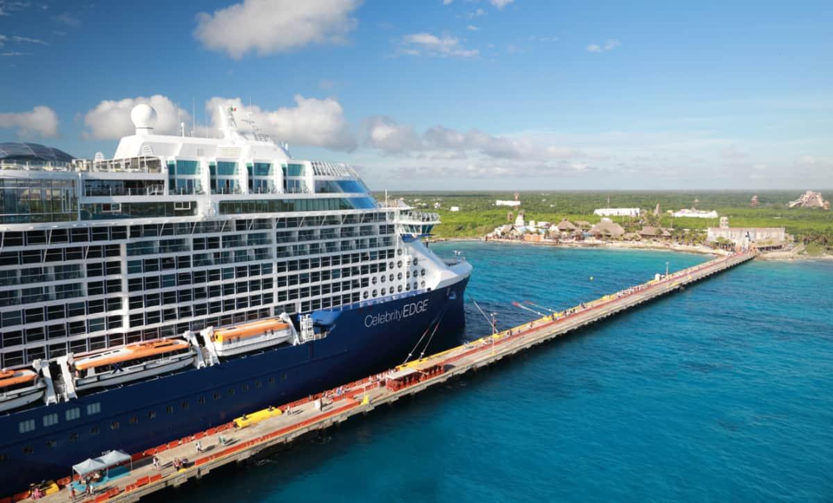 Cruise Ship Docked at Costa Maya