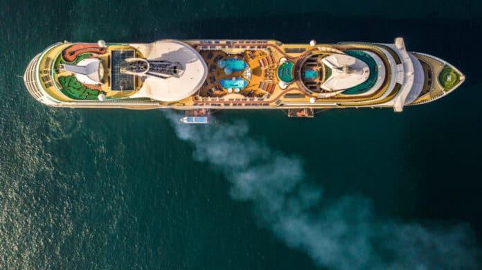 Cruise Ship Aerial View