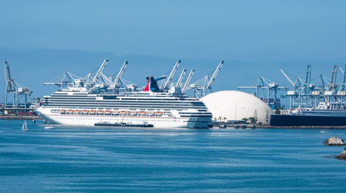 Carnival Cruise Ship in Long Beach