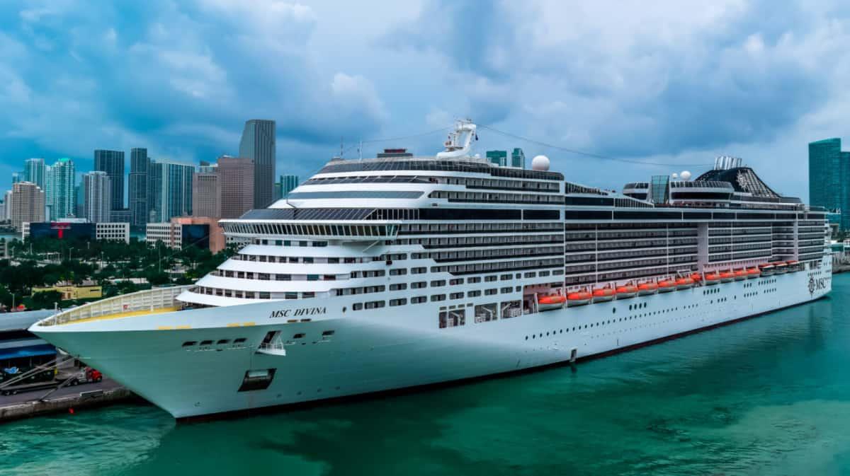 MSC Divina Cruise Ship in Miami, Florida