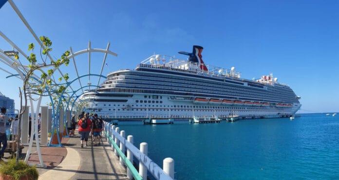 Carnival Cruise Ship in Jamaica