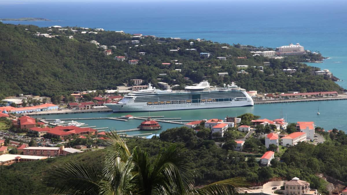 Royal Caribbean Cruise Ship in St. Thomas, USVI