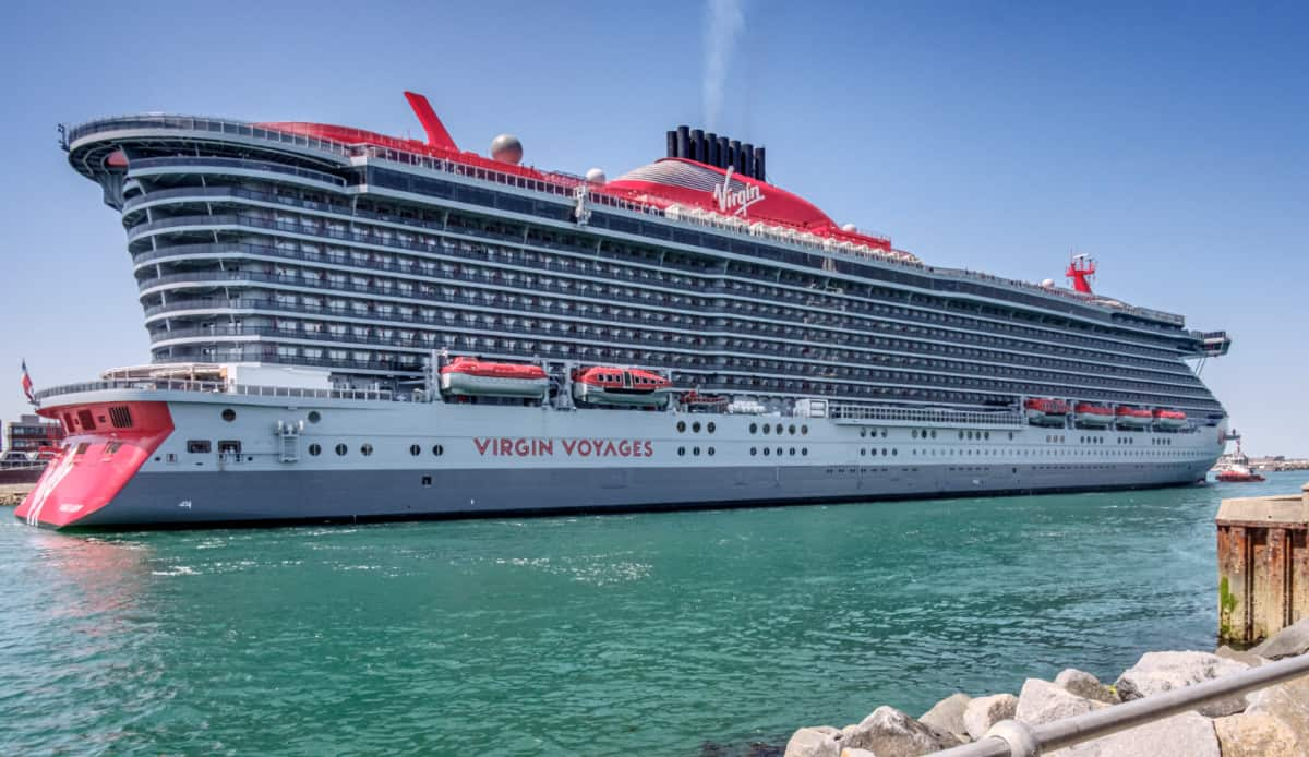 Scarlet Lady Cruise Ship in Portsmouth