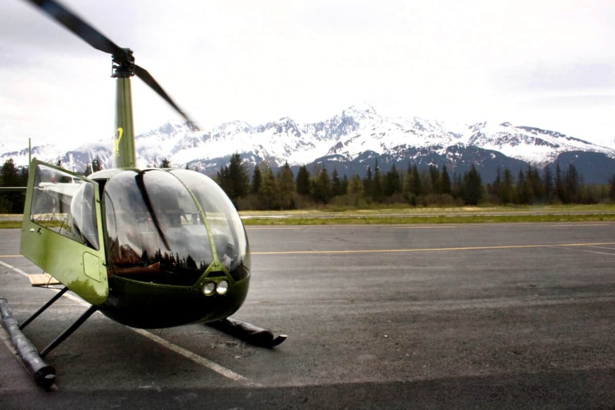 Helicopter in Seward