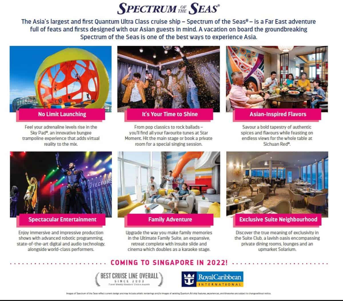 Spectrum of the Seas to Singapore