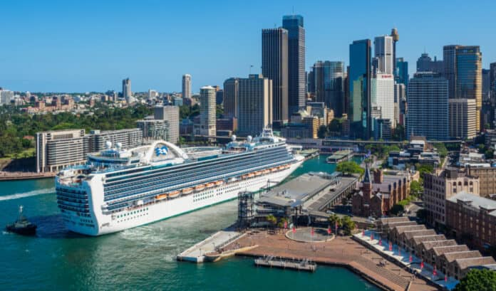 Princess Cruise Ship in Sydney, Australia
