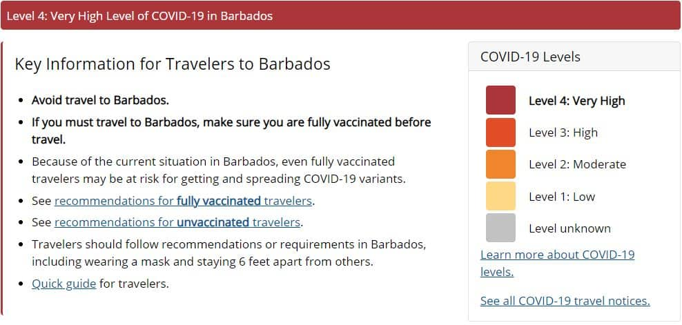 Barbados at Level 4