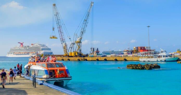 Cruise Ships Tendering at Grand Cayman