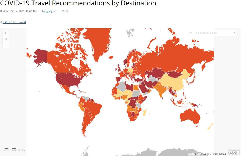 CDC Destination Map