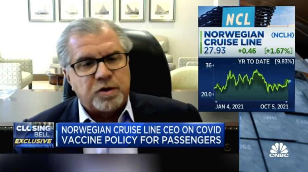 Norwegian Cruise Line Holdings CEO Frank Del Rio