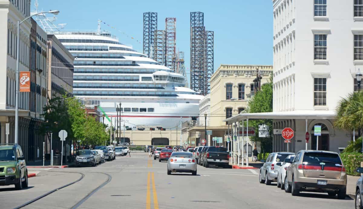 Cruise Ship in Galveston, Texas