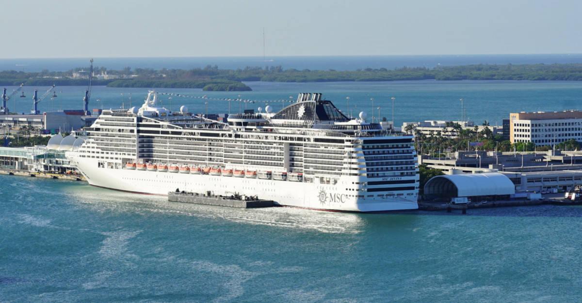 MSC Cruise Ship in Miami, Florida