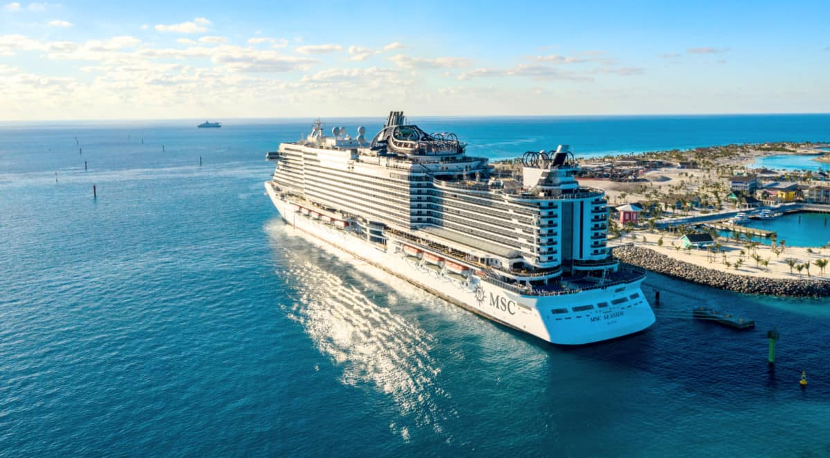 MSC Cruise Ship at Ocean Cay